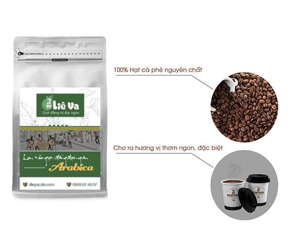 Cà phê arabica vị đắng nhẹ nhàng