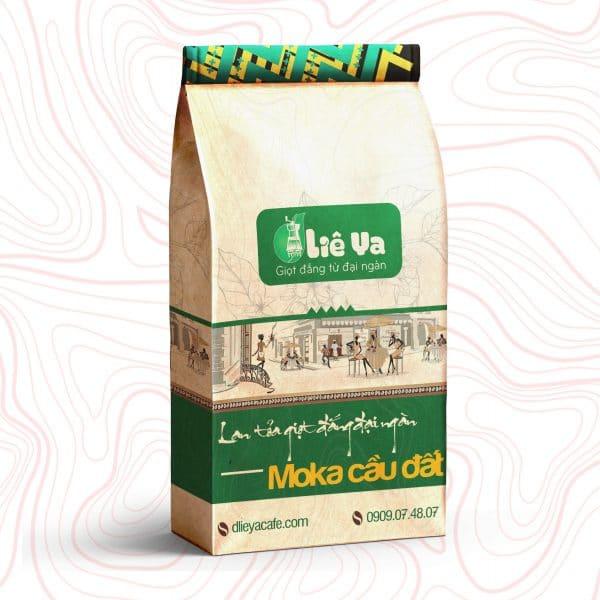 Cà phê Moka Cầu Đất, cafe hạt rang nguyên chất