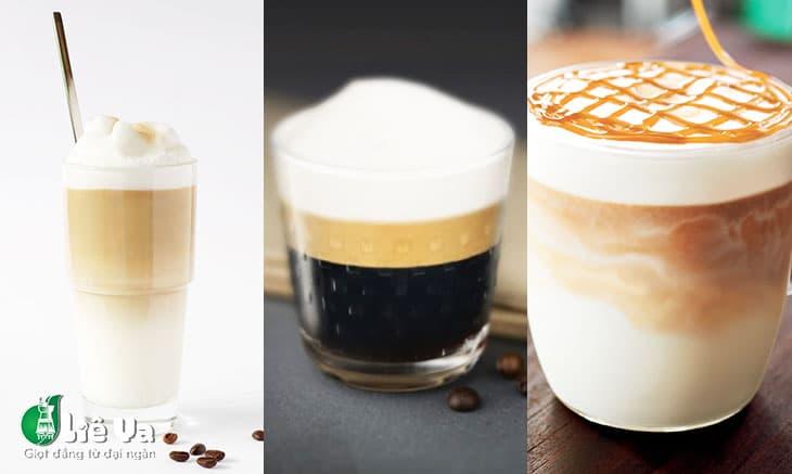 latte, espresso, caramel
